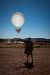 The release of a weather baloon (image©GJM) - [Click for a Larger Image]