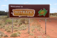 The Outback Way road sign. - [Click for a Larger Image]
