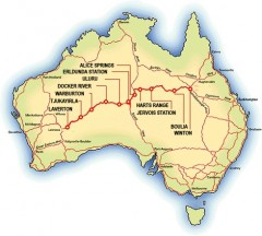 Map of the Outback Way. - [Click for a Larger Image]